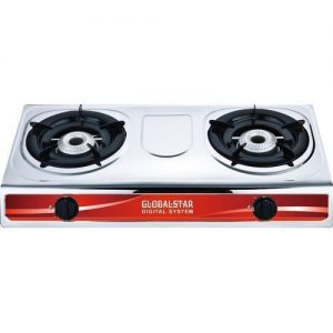 KEY FEATURES Stainless body Double burner gas Hi-Efficiency Gas Burner Automatic Ignition System Low gas consumption