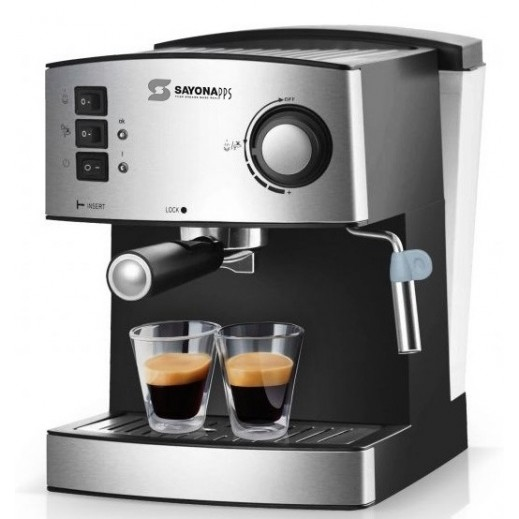 SAYONA COFFEE MAKER 1.6 LITER - SILVER