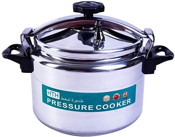 HTH 20L Pressure Cooker Aluminum for Household,Super-pressure Cooker Secure Cookerware, Silver
