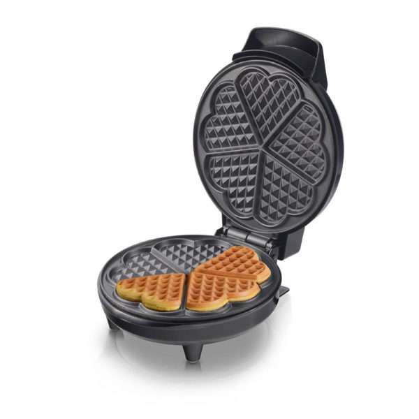 Waffle Maker NL-WM-1554-BK With Mini Heart-Shaped Waffles