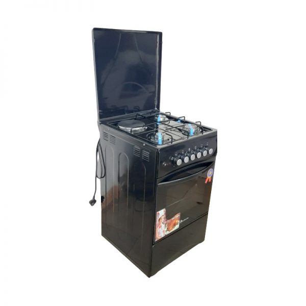 3 burners +1 plate electric , electric oven{ blueflame}