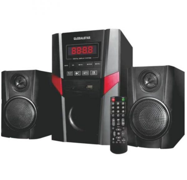 "KEY FEATURES Brand Name : GlobalStar Model Number : GS-4002 Input sensitivity:=70dB Voltage :AC90V- 260V DC:12V/50/60HZ Channels : (2.1) Material : Wooden & Plastic Output Power : 40W+15W*2 Speaker Unit : 4""x1+3"" *2"