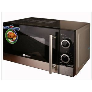 Sayona Microwave Oven 20L - Black, Silver