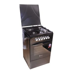 Blueflame Cooker C5031E – B 50x50cm 3gas burners and 1 electric plate, black in color