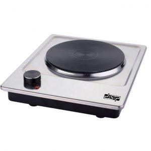 DSP 1500W Electric Cast-Iron Single Burner Hot Plate - Silver
