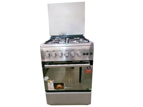 Blueflame cooker S6040GRFP – I 60 by 60 cm Full gas inox – stainless steel