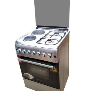 BlueFlame cooker S6022ERF – IP 60x60cm 2 gas burners and 2 electric plates with electric oven