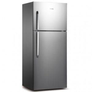 Hisense 328L Double Door Refrigerator - Silver