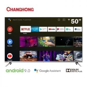 CHANGHONG 50 Inch SMART Android 9.0 LED 4K UHD TV - Black