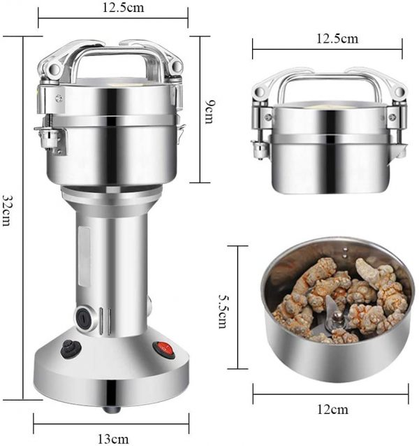 200g Electric Grain Grinder - Mill Cereal Spice Grinder