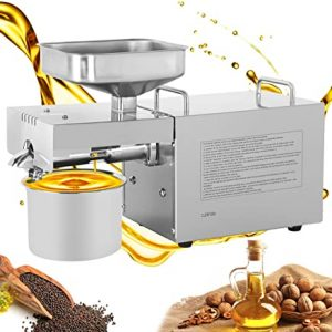 Automatic Oil Press Machine Stainless Steel Commercial Oil Expeller Multi-Functional Home Use Oil Extraction for Peanut Coconut
