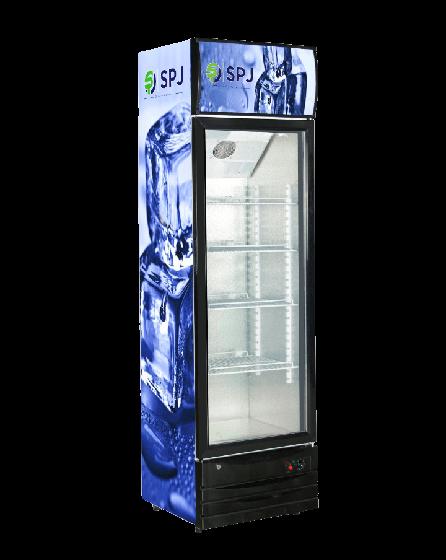 spj display fridge 355